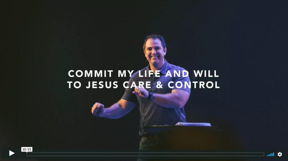 Part 3 // Commit My Life and Will to Jesus' Care and Control Image